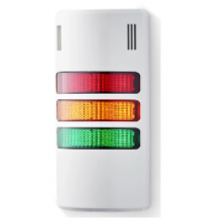 AUER Signal halfDOME LED Beacon Tower With Buzzer, 3 Light Elements, Amber, Green, Red, 24 V ac/dc