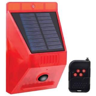 Solar Alarm and LED Flasher with 129dB Siren