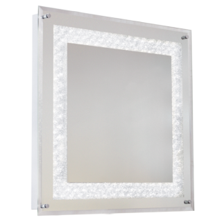 Crystal Square LED Mirror